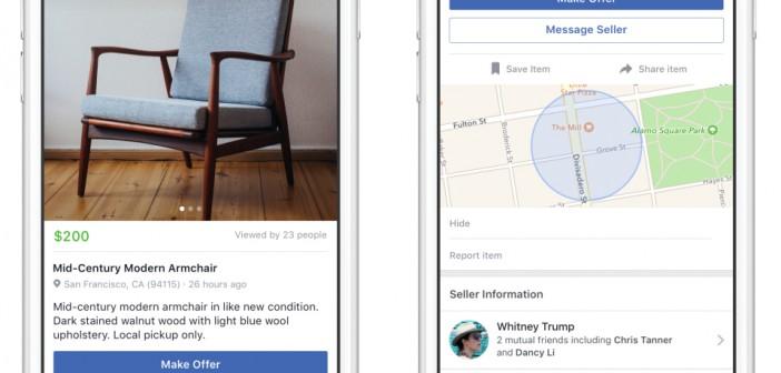 Facebook giới thiệu tính năng Marketplace