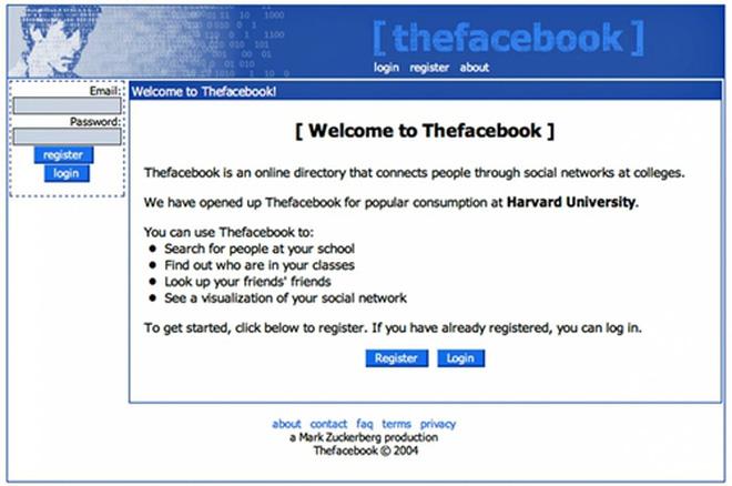 Không nản lòng trước thất bại của Facemask, Zuckerberg tiếp tục phát triển và ra mắt Thefacebook vào 4/2/2004.