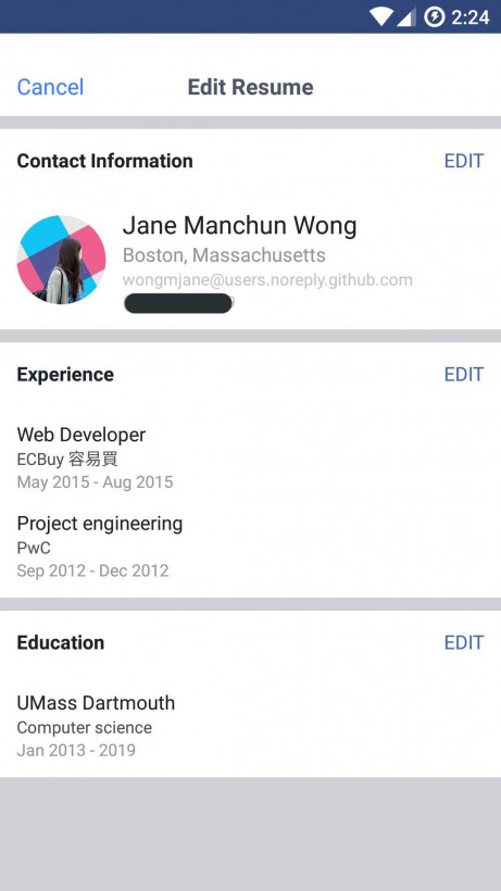 facebook th nghim tnh nng resumecv trc tip cnh tranh vi linkedin - Cv Va Resume Khac Nhau