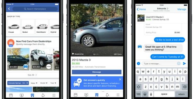 Facebook chuẩn bị đưa quảng cáo ô tô đã qua sử dụng lên Marketplace - Ảnh 1.