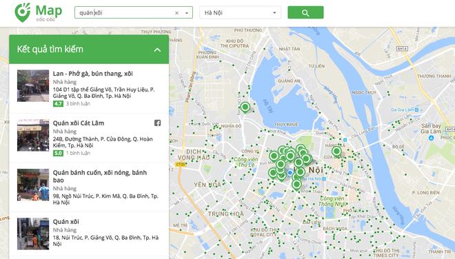 Cốc Cốc ra mắt bản đồ cạnh tranh Google Maps: Chi tiết đến từng quán trà đá, tiệm bơm xe - Ảnh 1.