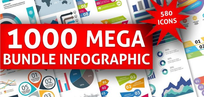 Bộ vector thiết kế Infographic cực khủng – 1000 Big Bundle Infographic Elements