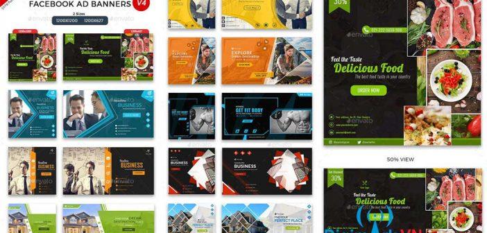 Bộ tổng hợp 20 mẫu thiết kế banner cho Facebook ( file PSD )
