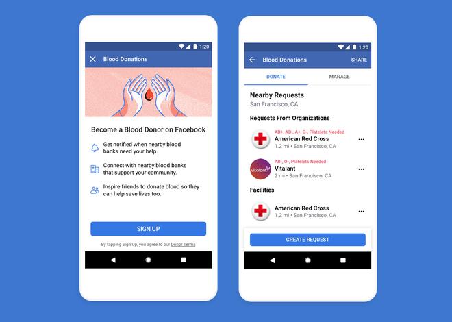 Facebook ra mắt tính năng vận động hiến máu tình nguyện - Ảnh 3.