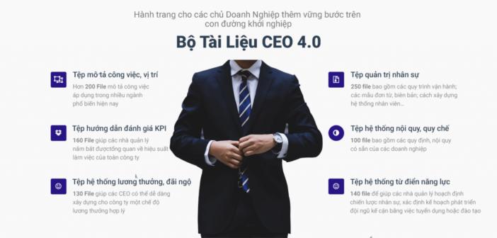 Chia sẻ bộ tài liệu dành cho CEO 4.0 phiên bản 2018