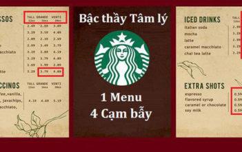 """""""Bậc thầy"""" tâm lý học Starbucks và 4 """"cạm bẫy"""" chực chờ trên menu - Ảnh 1."""