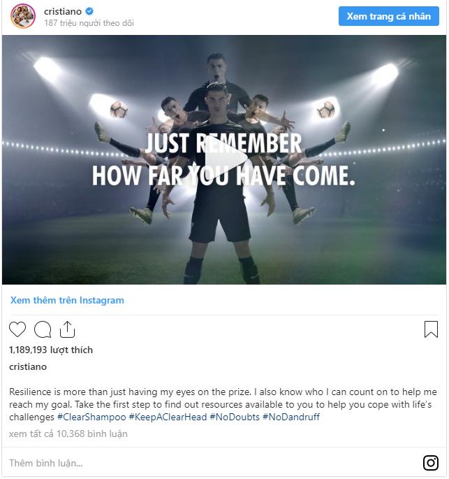 Choáng váng với giá tiền 1 bài đăng Instagram của Ronaldo: Ngót nghét gần 1 triệu USD! - Ảnh 1.