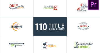 [Premiere Pro Templates] 110 Title Animations | Tổng hợp 110 mẫu template tiêu đề cực đẹp dành cho Premier Pro