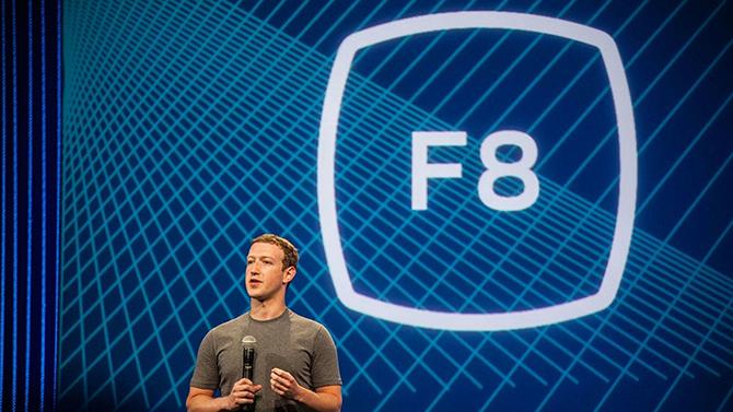 CEO Facebook Mark Zuckerberg tại Hội nghị F8 năm ngoái.